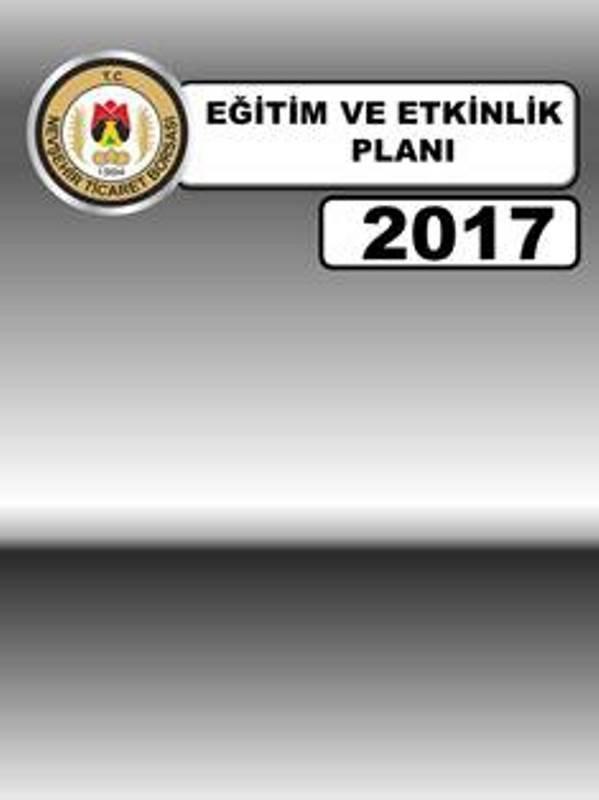 EĞİTİM VE ETKİNLİK PLANI 2017
