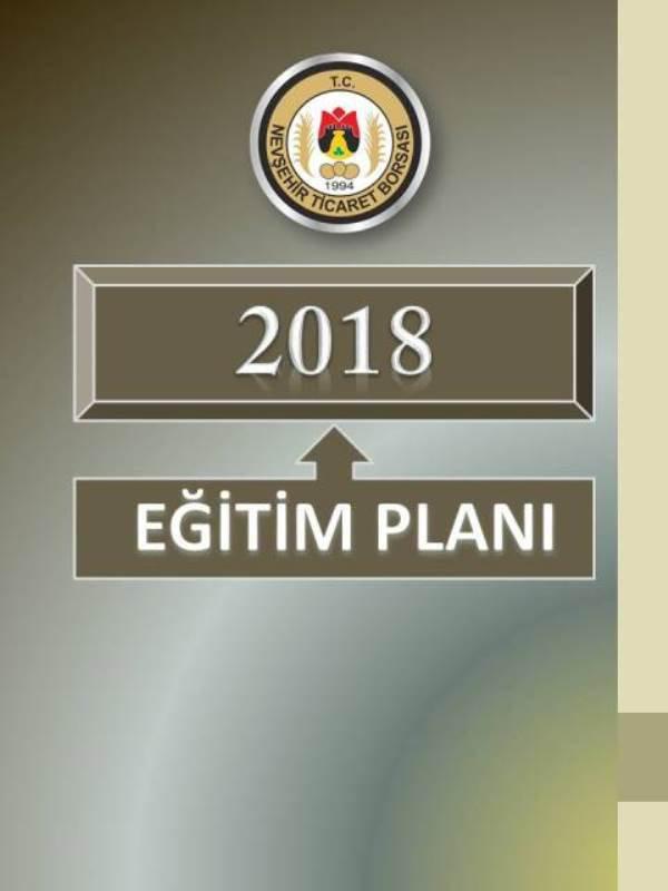 EĞİTİM VE ETKİNLİK PLANI 2018