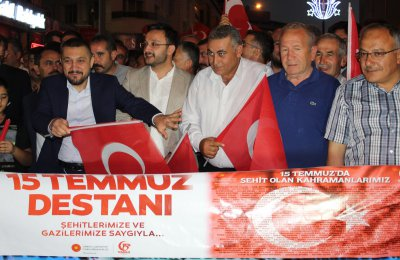 Nevşehir Ticaret Borsası Demokrasi Yürüyüşünde