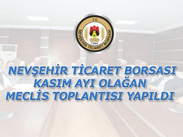 NTB Kasım ayı Olağan Meclis Toplantısı Yapıldı