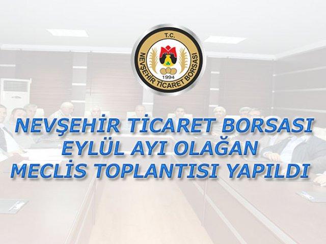NTB Eylül Ayı Olağan Meclis Toplantısı Yapıldı