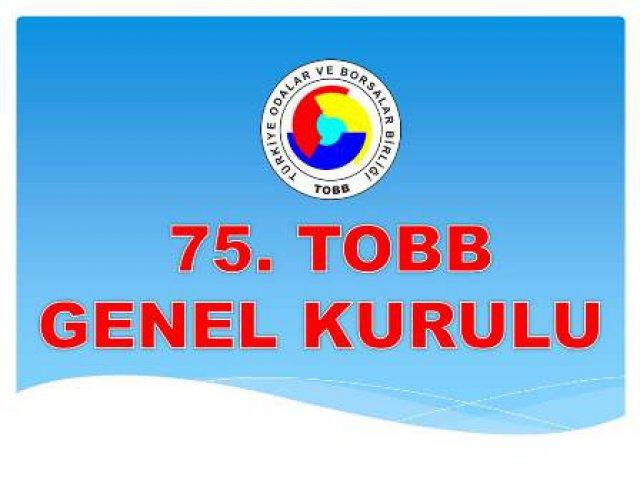 Nevşehir Ticaret Borsası 75. TOBB Genel Kuruluna katıldı