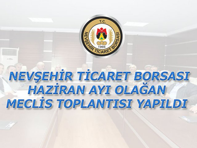 NTB Mayıs ayı Meclis Toplantısı yapıldı.
