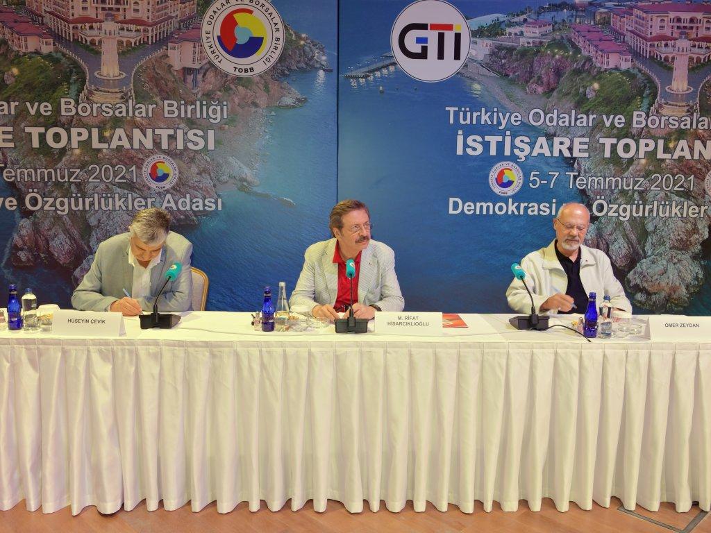 TOBB İstişare Toplantısı Demokrasi Adası'nda yapıldı