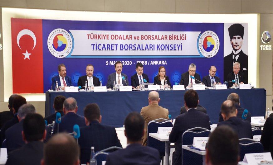 Salaş, Ticaret Borsaları Konsey Toplantısına katıldı