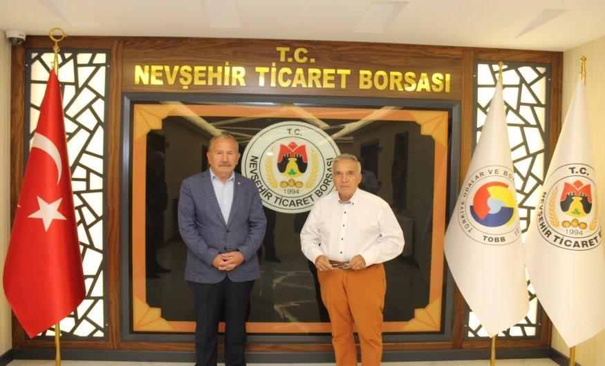 Gazeteci Yavuz Donat Nevşehir Ticaret Borsasını ziyaret etti