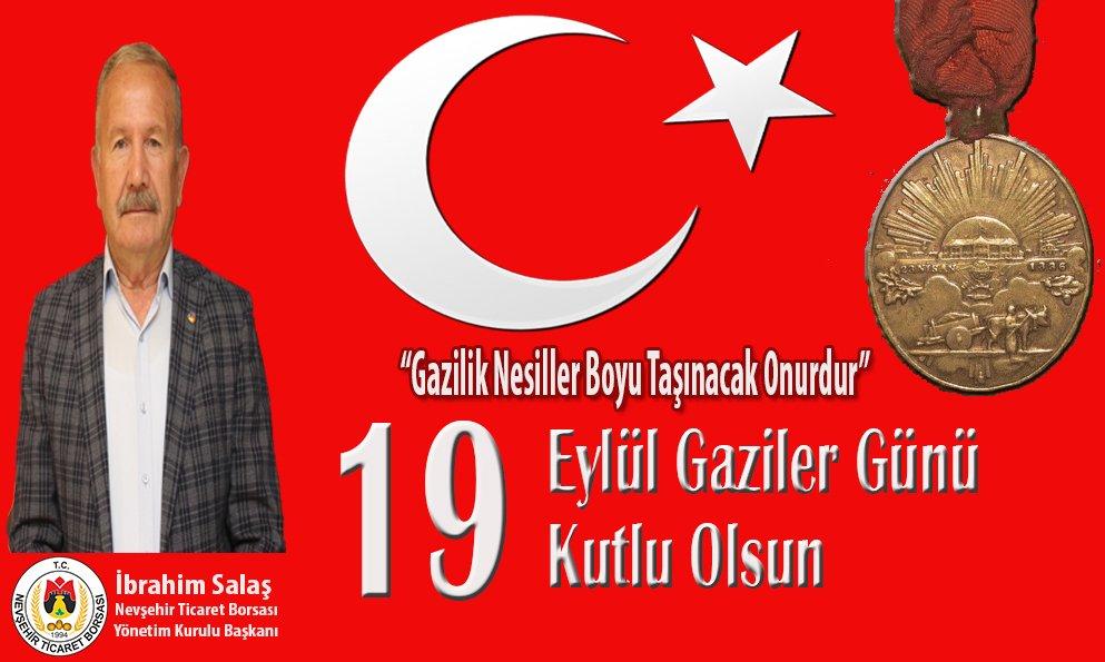 Başkan Salaş'tan '19 Eylül Gaziler Günü' Mesajı