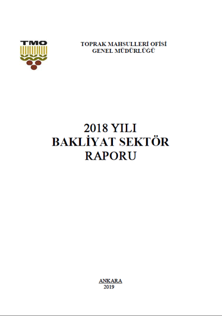 TMO BAKLİYAT SEKTÖR RAPORU 2018