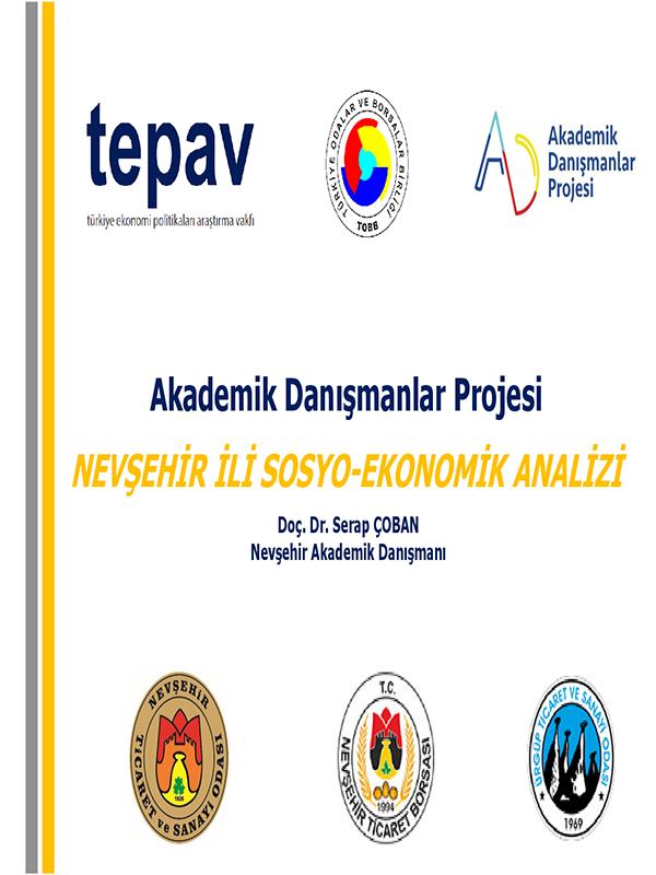 TEPAV NEVŞEHİR İLİ SOSYO-EKONOMİK ANALİZİ